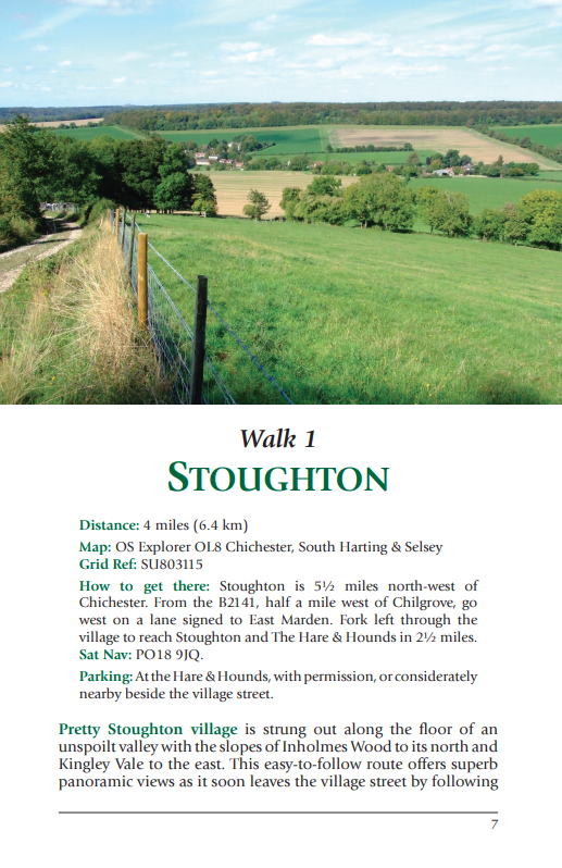 West Sussex Pub Walks Stoughton countryside walk