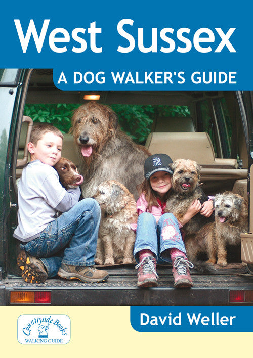 West Sussex A Dog Walker's Guide book cover. Best dog walks.