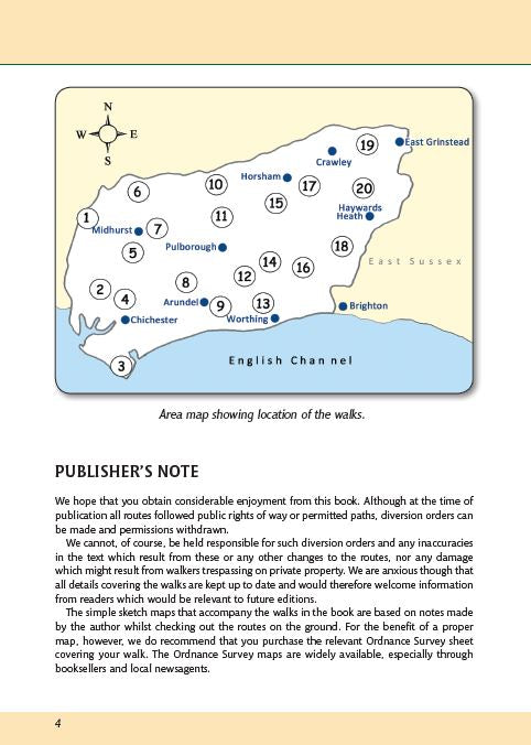 West Sussex A Dog Walker's Guide area map