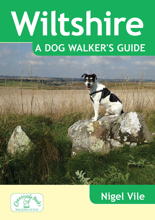 Wiltshire A Dog Walker's Guide book cover. Best dog walks.