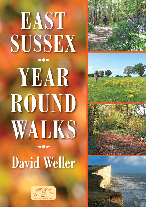 East Sussex Year Round Walks book cover. Countryside walks for all seasons.