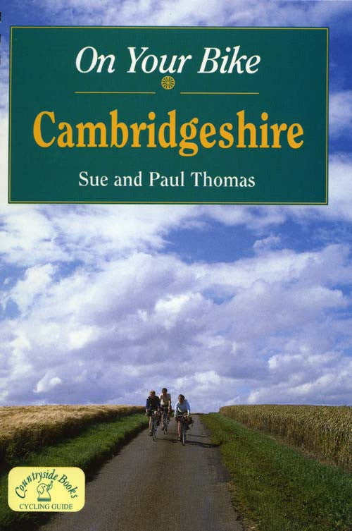 On Your Bike Cambridgeshire book cover. Bike ride routes.