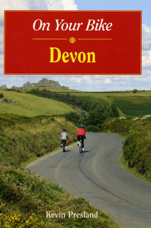 On Your Bike Devon book cover. Bike ride routes.