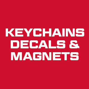 Keychains, Decals, and Magnet