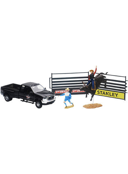 PBR Ford F-350 with Bull Riding Set by New Ray Toys