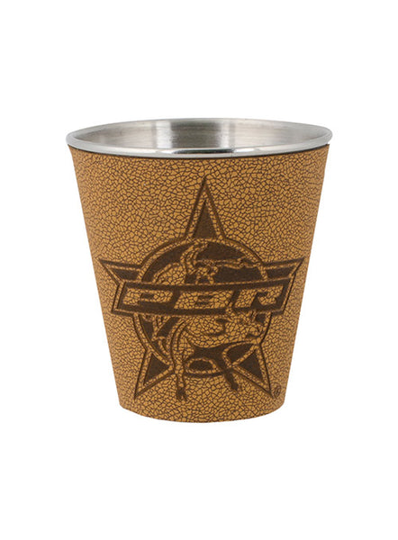 PBR Stainless Steel & Leather Shot Glass