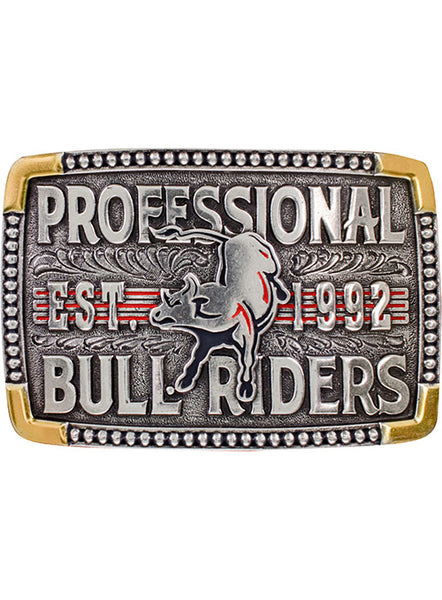 PBR Established 1992 Belt Buckle by Montana Silversmiths