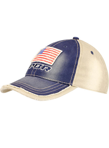 PBR Patriotic Washed Twill Unstructured Mid Profile Cap