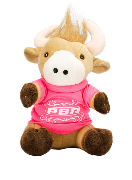 PBR Plush Bull with Pink Shirt
