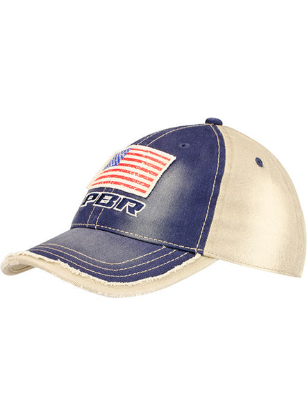PBR Patriotic Youth Washed Twill Unstructured Mid Profile Cap