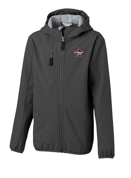 PBR Cutter & Buck Youth Full-Zip Softshell Jacket