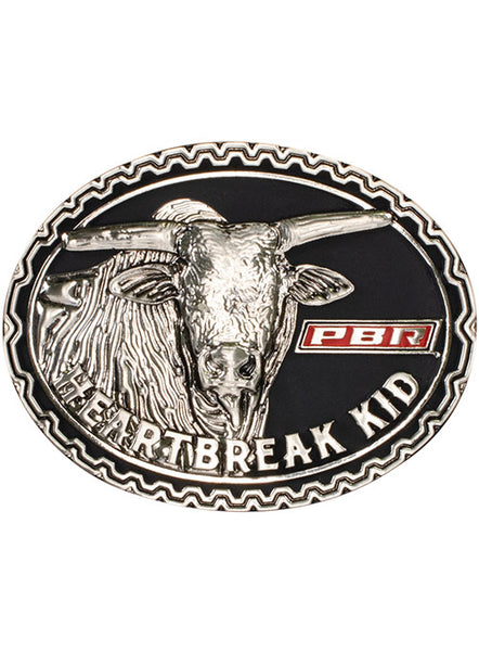 PBR Heartbreak Kid Buckle by Montana Silversmiths