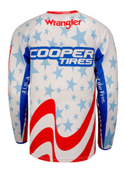 PBR Cooper Tires Stars & Stripes Long Sleeve Jersey