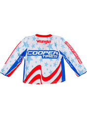 PBR Cooper Tires Stars & Stripes Long Sleeve Toddler Jersey