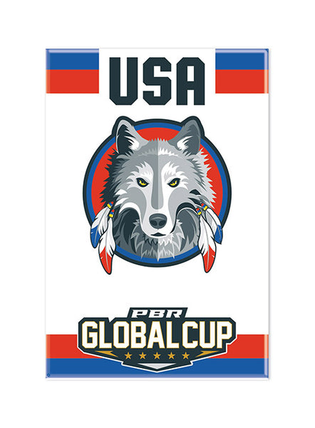 PBR Global Cup USA Wolves Magnet