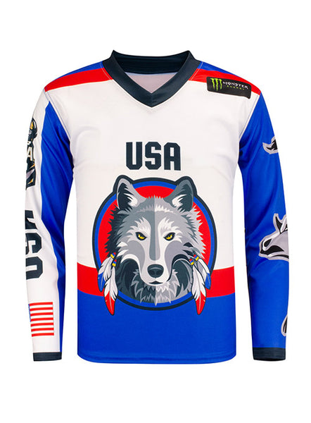 PBR Global Cup USA Wolves Sublimated Youth Jersey