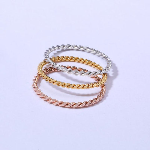 Rings for her - womens stacking rings in silver, gold and rose gold