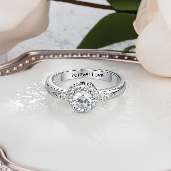 Personalized 925 Sterling Silver Womens Rings