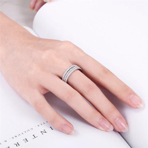stackable womens rings - silver, rose gold and gold simple thin rings