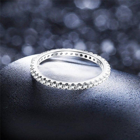stackable womens rings - silver simple thin rings