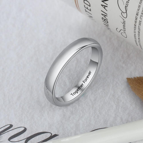 custom promise rings for her - simple silver personalized gift for her