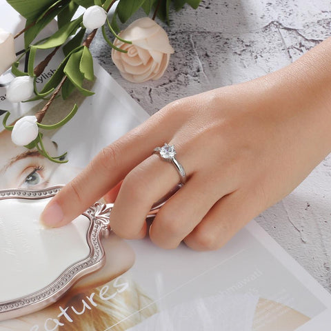 promise rings for her - personalized zirconia diamond ring gift for women