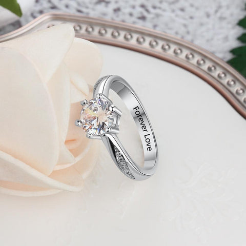 engagement rings for her - personalized zirconia diamond ring gift for women