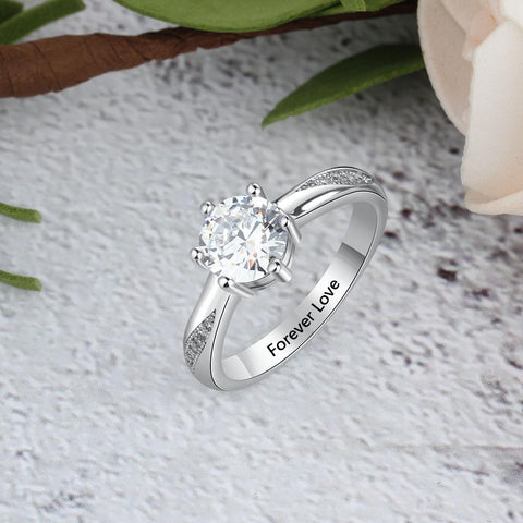 proposal rings for her - personalized zirconia diamond ring gift for women