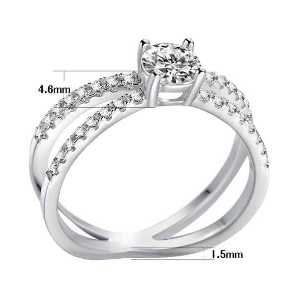 womens promise rings - cubic zirconia diamond silver female ring
