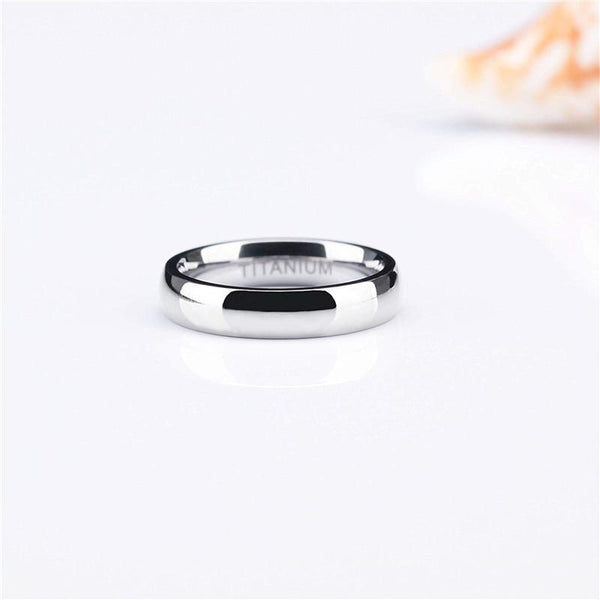 silver mens rings - polished tungsten male ring band