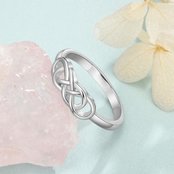 Personalized sterling silver Irish ring for women