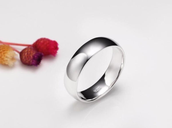 Promise rings - 6mm 925 Sterling Silver Unisex Ring