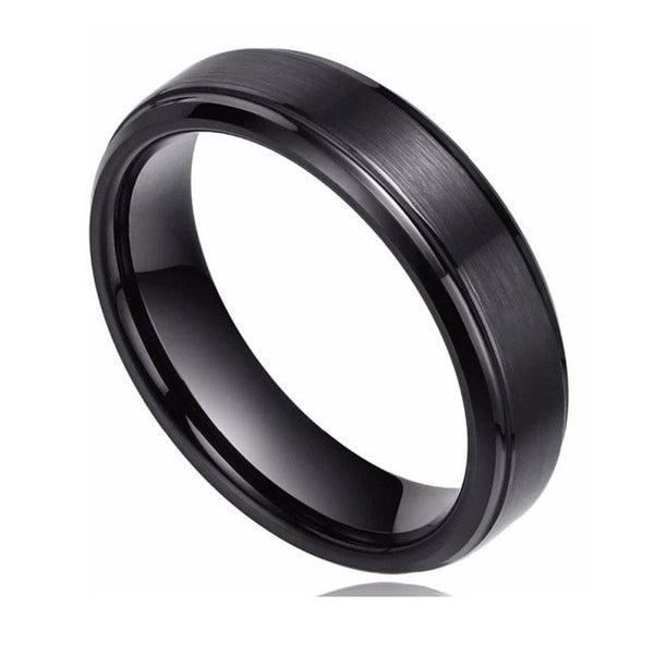 Personalized black mens rings gift for him