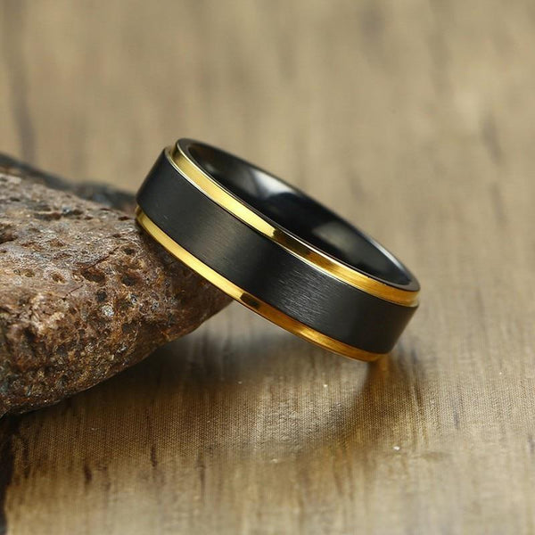personalized black mens ring gift for him