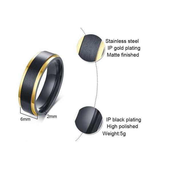 mens black promise rings - valentines day gifts for him