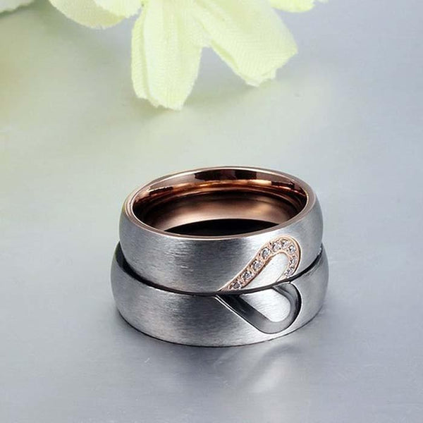 matching couples rings - promise rings set for him and her