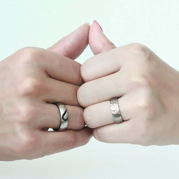 promise rings for him and her - heart ring set