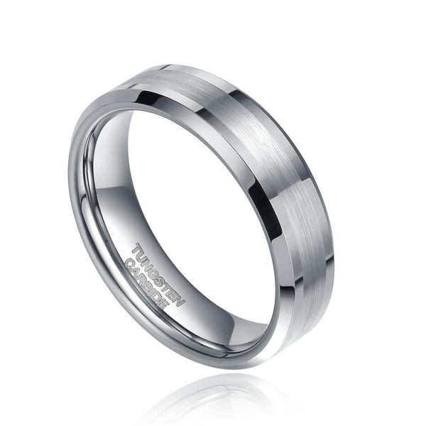 Mens rings - silver personalized male promise rings