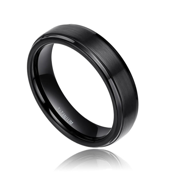 Black mens ring - personalized mens ring