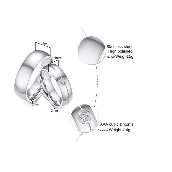 Personalized silver couples ring