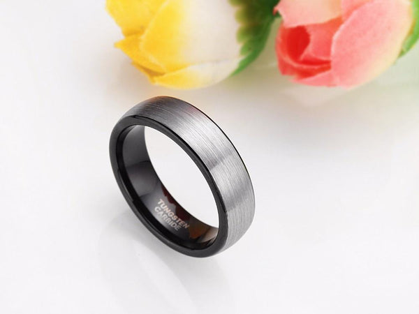 Black mens promise rings - personalized male rings