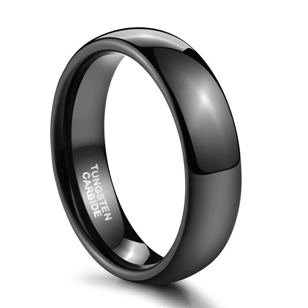 Personalized black mens ring