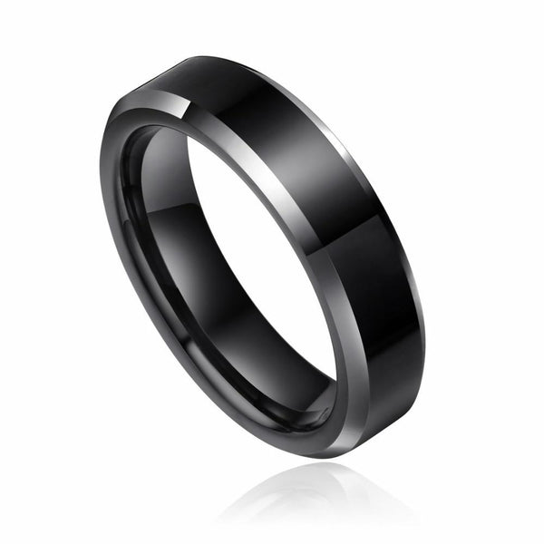 Personalized black mens promise ring