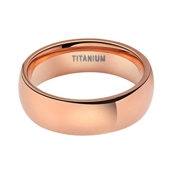 Personalized rose gold promise rings