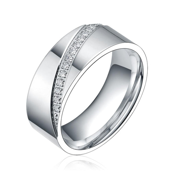 Couples promise rings - personalized silver mens ring