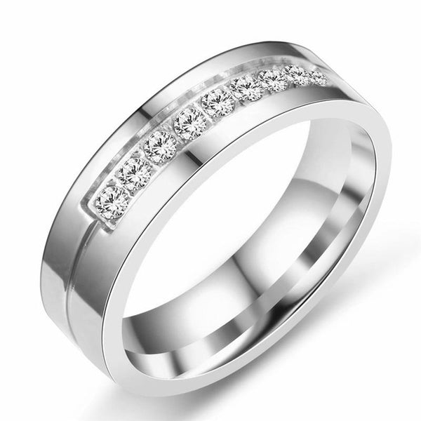 personalized matching silver promise rings for him and her
