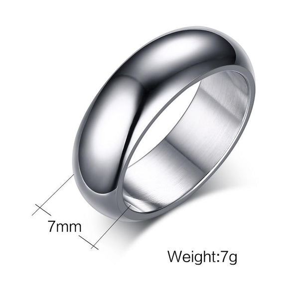 Rings for him - Personalized silver stainless steel mens ring