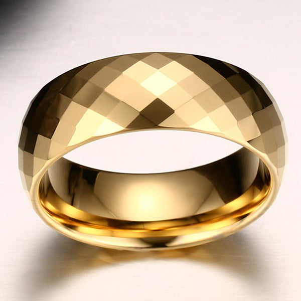 Unique mens ring - personalized mens gold ring