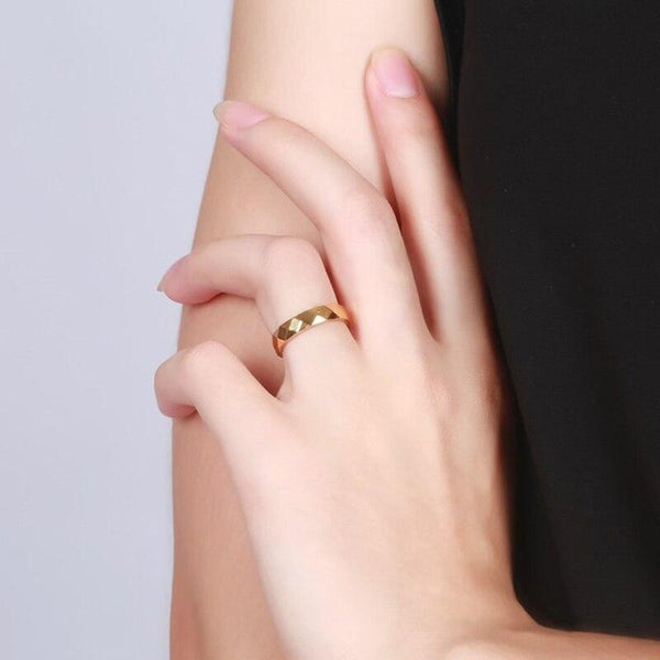 Unique womens ring - personalized womens gold ring