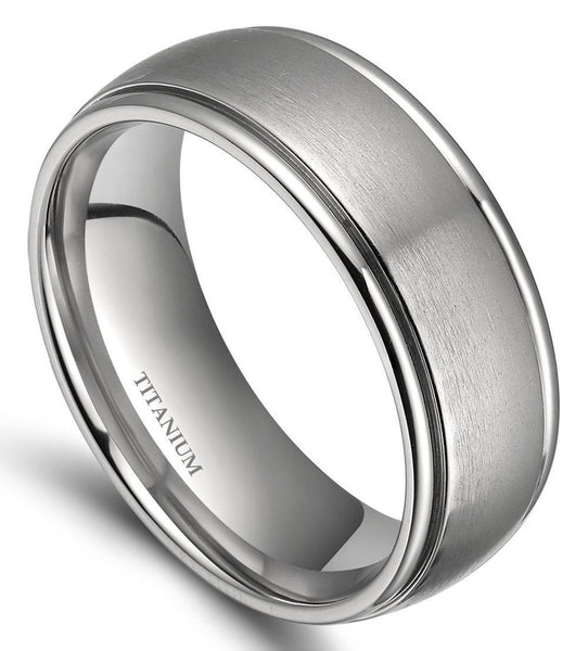 Rings for him - personalized silver mens ring
